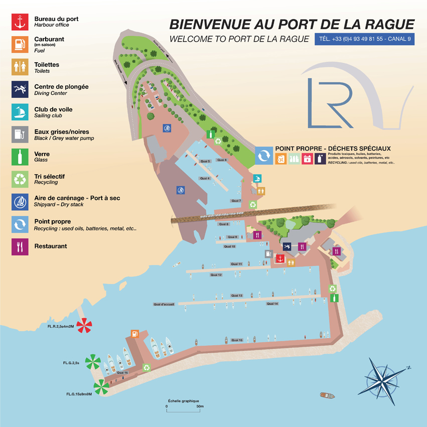 Plan Port de la Rague - Map Port de la Rague